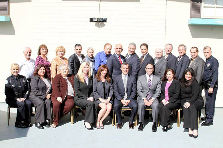 Encino Chamber of Commerce Board of Directors with Mayor Eric Garcetti 2014