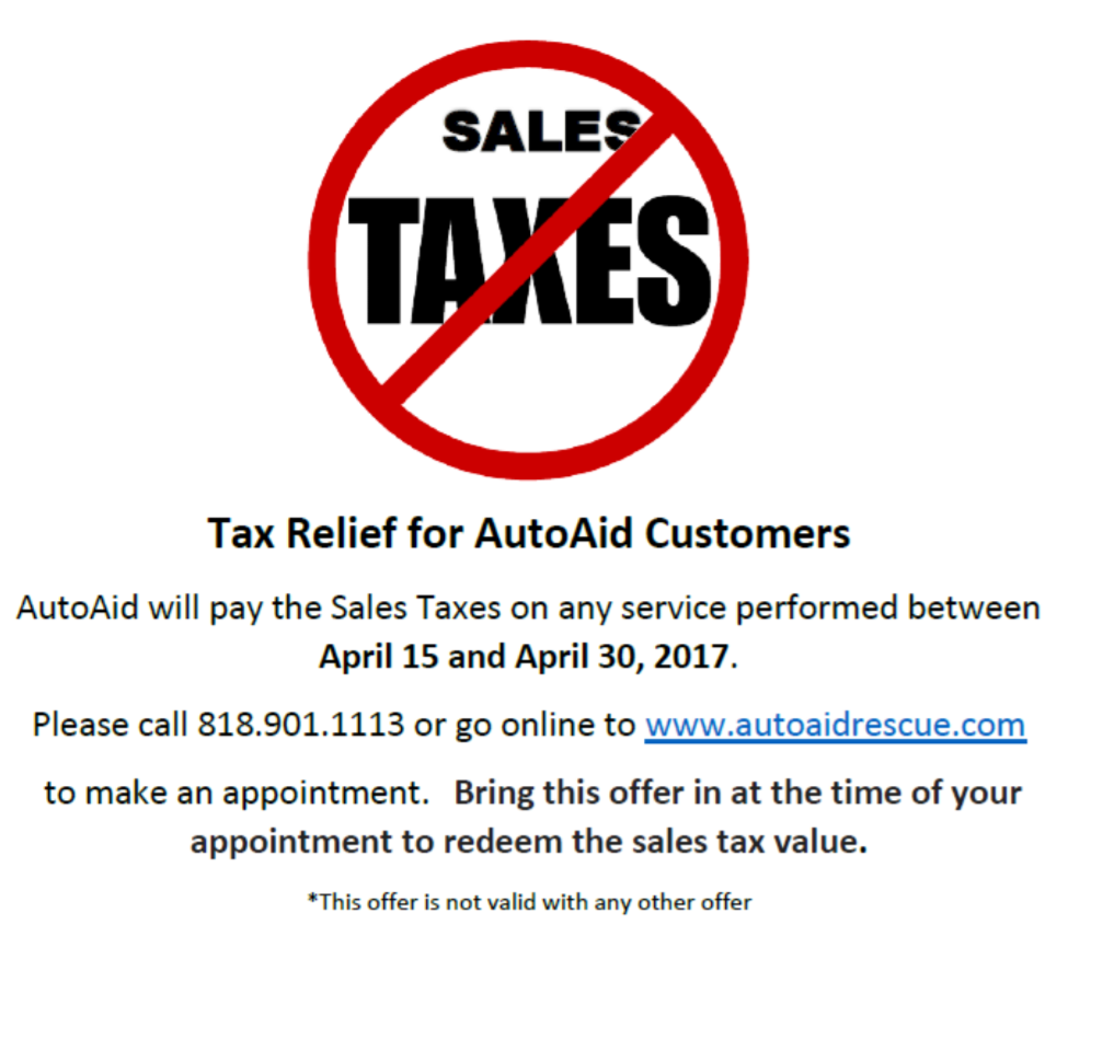 Tax Relief For AutoAid Customers!